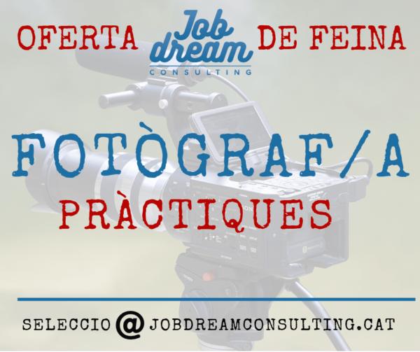 Oferta Fotògraf pràctiques
