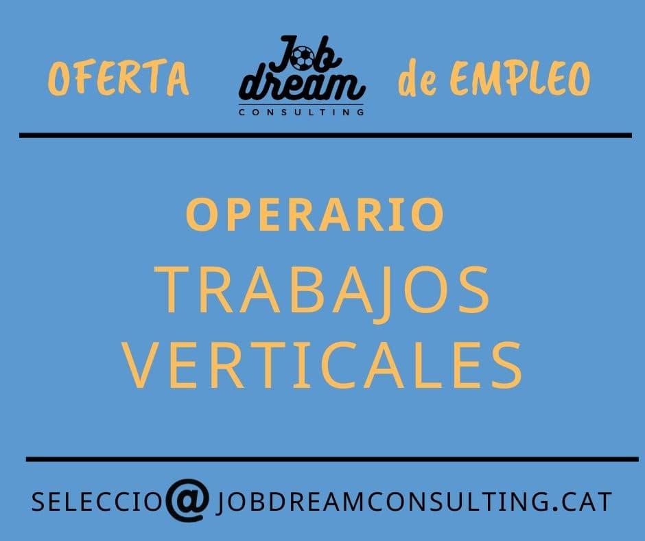 Operario trabajos verticales – Job dream